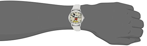 Ingersoll Mickey Mouse Men's IND 26161 Ingersoll Disney Mickey Mouse Moving Arms Analog Display Quartz White Watch 1