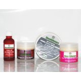4 Great Anti-aging Natural Shea Butter Skincare Products: Hope Oil Skin Repair & Intensive Anti aging Serum (50ml), Anti-Aging Moisturizer with Vitamin E & Daylight Protection (60ml), Multi-Action Green Clay Face Mask (120g) and Rose Rehydrating Face Cre