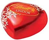 50 LINDT LINDOR MILK CHOCOLATE HEART TRUFFLES WITH SMOOTH MELTING FILLING