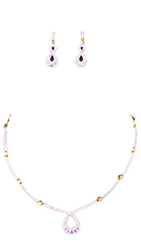 Apex Gold & White Brass Necklace Set For Women - B00U145XMK