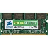 Corsair VS1GSDS667D2 Value Select 1GB (1x1GB) DDR2 667 Mhz CL5 200 Pin SODIMM Memory Module
