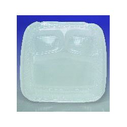 Dart C57HT1 17.1 Fluid-Ounce Capacity 6 Inch Length by 5.9 Inch Width by 3.3 Inch Height Small Showtime Clear Plastic Hinged Lid Container 125-Pack (Case of 2)