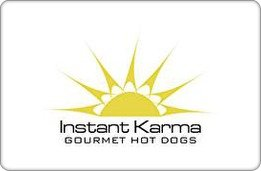 Instant Karma Gourmet Hot Dogs Gift Certificate ($25) (Instant Restaurant Gift Cards compare prices)