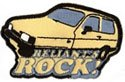 Robin reliant retro new iron on patch, reliants rock . new and carded ideal for clothing, bags etc