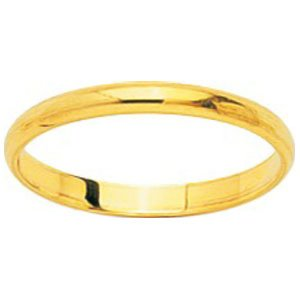 So Chic Jewels - 18k Yellow Gold 2 mm Classic Wedding Band Ring