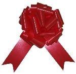 Cotillon d'alsace - Sachet de 4 nœuds à tirer 5 cm rouge