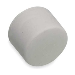 Rubber Mallet Tip, 2 In Dia, Soft, White