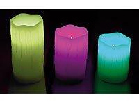 3x LED Kerze mit Farbwechsel und Fernbedienung