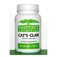 Cats Claw Capsules 100 Caps, 500 mg - Raintree Nutrition Inc.