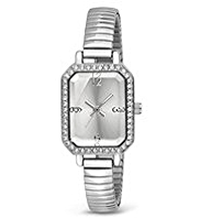 M&S Collection Diamanté Rectangular Face Sparkle Strap Watch