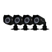 Night Owl Security CAM-4PK-CM245 4-Pack Color Wired Cameras with 45 Feet Night Vision, 240 Feet of Cable and Vandal Proof 3-Axis Mounting Brackets