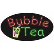 "Led Sign, 'Bubble Tea' - 11.75"" H X 23.5"" L X 1"" D"