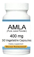 Amla Extract Amalaki Indian Gooseberry 400 Mg, 30 Vegetable Capsules, Dense Levels of Food Nutrients - Endorsed by Ray Sahelian, M.D