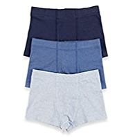 3 Pack Cotton Rich Assorted Marl Trunks