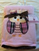 Embroidered Soft Plush Reversible Blanket