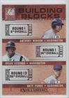 Anthony Rendon, Brian Goodwin, Matt Purke Washington Nationals (Baseball Card) 2011 Donruss Elite Extra Edition Building Blocks Trios #1