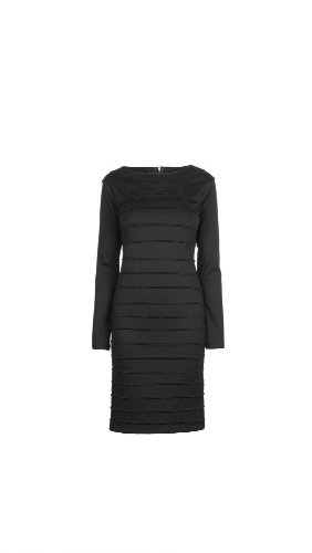 James Lakeland Ribbed Long Sleeve Dress Black