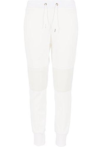 Urban Classics - Jogginghose Scuba Mesh Jogging Pants, Pantaloni sportivi Donna, Bianco (Offwhite), X-Large (Taglia Produttore: X-Large)