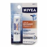 Nivea a Kiss of Recovery Medicated Lip Care SPF 15, NET Wt(0.17oz) Pack of 6
