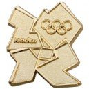 London 2012 Olympic Gold Logo Pin Badge
