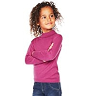 Pure Cotton Roll Neck Jumper with StayNEW™