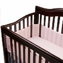 BreathableBaby Mesh Crib Liner - Light Pink