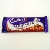 Cadbury Dairy Milk Whole Nut 49G , Qty 12 Bars