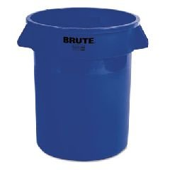 Rubbermaid Commercial FG262000BLUE BRUTE Heavy-Duty Round Waste/Utility Container, 20-gallon, Blue (Brute Blue Lid compare prices)