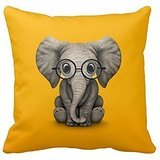 Elephant Pillow Cases 18 X 18 Inches / 45 By 45 Cm Gift Or Decor For Couch,bar,gf,drawing Room,bedding,home Theater - Double Sides (Missouri Free Quilt T compare prices)