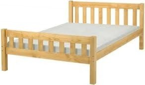 Kingsize Pine Bed 5ft Shaker style Kingsize Bed Wooden Frame with extra wide base slats and centre rail - VERY STRONG