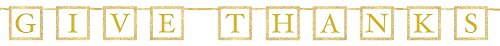 Thanksgiving Glitter Letter Banner