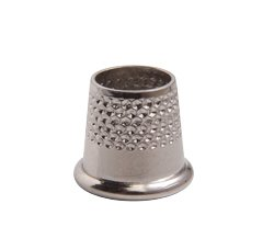 Thimble - Solid Brass/Nickel Plated - Oepn Size 10