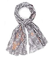 Indigo Collection Pure Cotton Lightweight Neon Embroidered Scarf