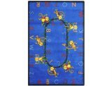 "Joy Carpets Kid Essentials Early Childhood Monkey Business Rug, Blue, 7'8"" x 10'9"""
