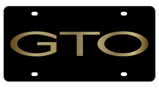 pontiac-gto-license-plate-on-black-steel