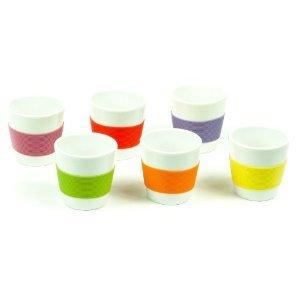 yoko design lot de 6 tasses pour expresso nespresso cuisine maison. Black Bedroom Furniture Sets. Home Design Ideas