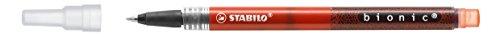 Stabilo Bionic Lot de 5 recharges pour roller Rouge