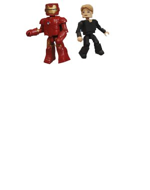 Picture of Art Asylum Minimates: Marvel Series 21: Iron Man Iron Man Mark III And Pepper Potts Action Figure 2-Pack (B001IPD2CO) (Iron Man Action Figures)