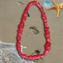 34 Inch Long Red Plastic Leis Sold By The Dozen