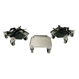 V-Slide Power Wheel Snowmobile Dollies - Aluminum