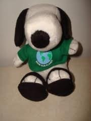 "Snoopy Save Our Planet Met Life 6 1/2"" Plush - 1"