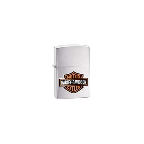 Zippo Harley Davidson Logo Brushed Chrome Lighter Kitchen