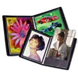 Itoya EV-12-4 Art Profolio Evolution 4x6in. Photo Size 24 Sheets for 48 Pictures Black