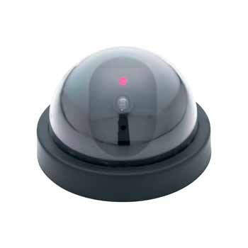SE Dummy Security Camera, Dome Shape, 1 Red Flashing Light
