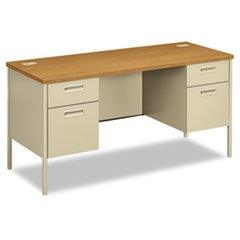 * Metro Series Kneespace Credenza, 60w x 24d x 29-1/2h, Harvest/Putty