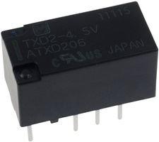 Panasonic Ew Txd2-4.5V Signal Relay, Dpdt, 4.5Vdc, 2A, Through Hole