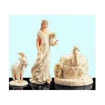 Lenox Woman of Bethlehem 3 piece set Lady well & goat