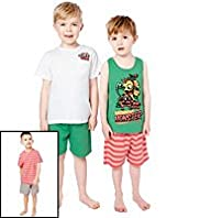 3 Pack Cotton Rich Monster Pyjamas
