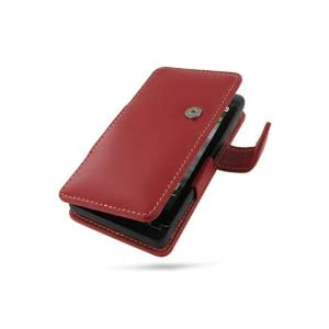PDair Leather case for Motorola DROID X MB810 - Book Type (Red)