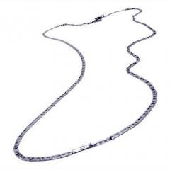 Fine Crafted Men's Silver Chain Necklace